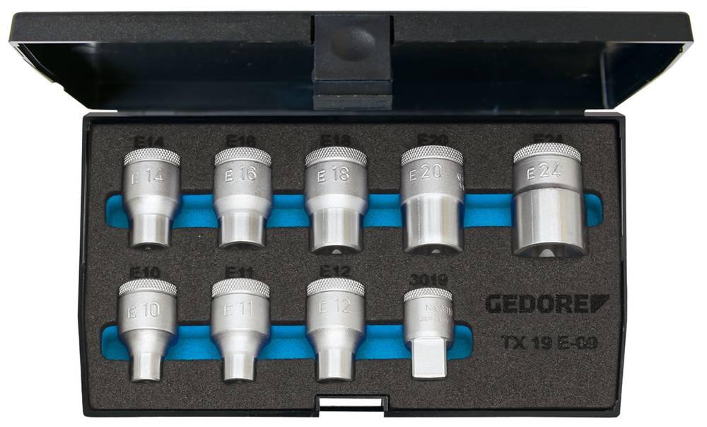 Udvendig-TORX Topnøgleindsats-sæt Gedore 6265970 1/2 (12,5 mm) 9 dele