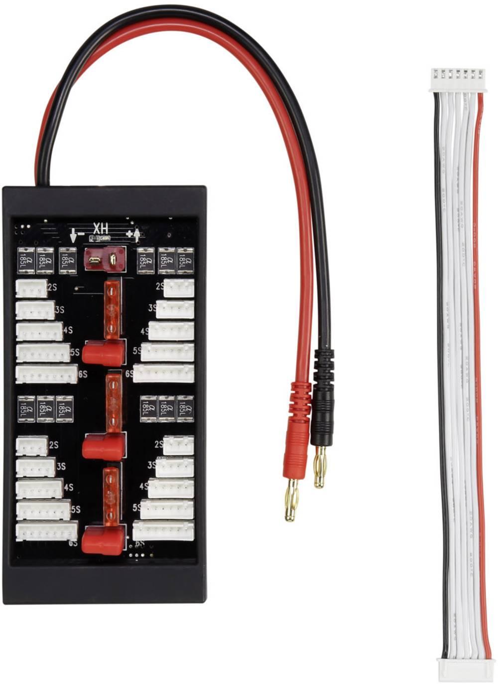 LiPo uravnalni adapter, izvedba polnilnika: banana vtič izvedba akumulatorja: T-vtični sistem, XH primeren za celice: 2 - 6 VOLT