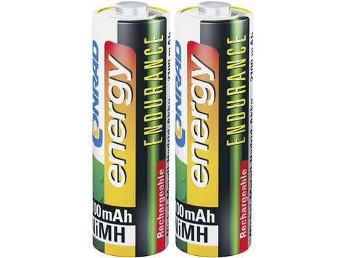 Conrad energy Endurance HR06 Oplaadbare AA batterij (penlite) NiMH 2600 mAh 1.2 V 2 stuks