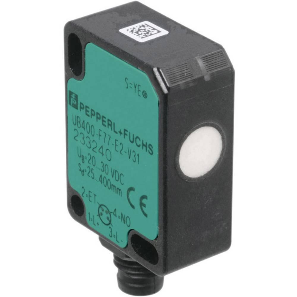 Ultrazvučni reflektirajući senzor za izravnu detekciju u minijaturnom dizajnu Pepperl & Fuchs UBR250-F77-E3-V31 (D x Š x V) 40 x