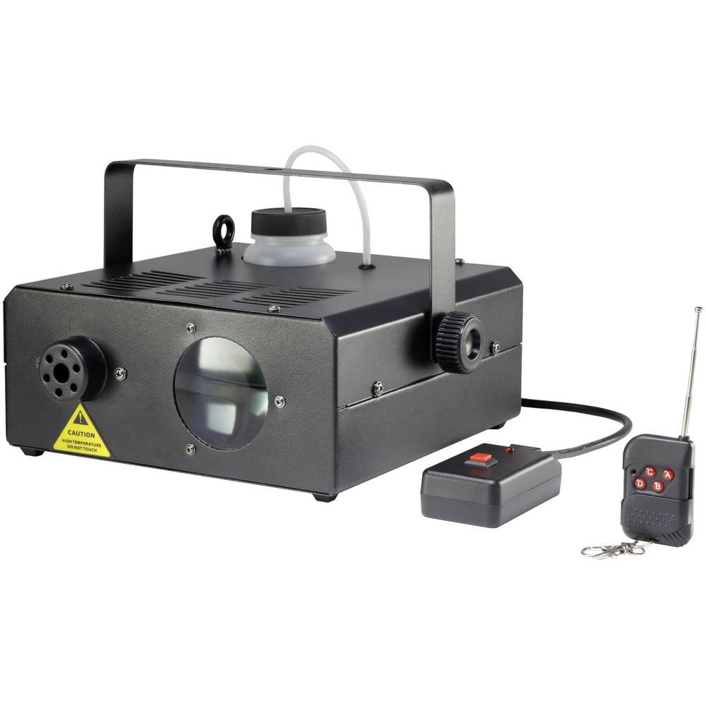 Naprava za meglo v setu Renkforce Moon-Fog vklj. nosilec za montažo in kabelski daljinski upravljalnik, s svetlobnimi efekti