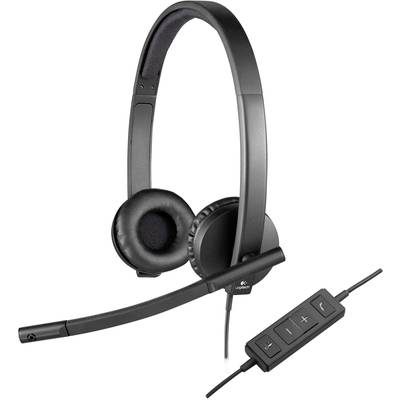 Image of Logitech H570e PC headset USB Stereo, Corded Over-the-ear Black