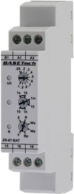 Tidsrelæ Basetech ZR-67-BAT Multifunktionel 0.05 s - 10 h 1 x skiftekontakt 1 stk