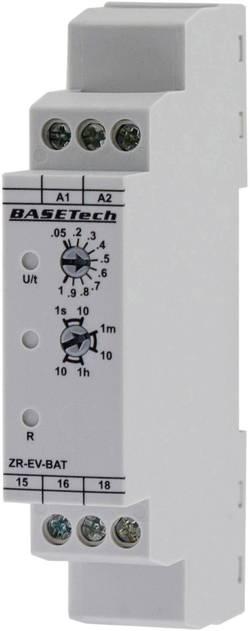 Tidsrelæ Basetech ZR-EV-BAT Monofunktionel 0.05 s - 10 h 1 x skiftekontakt 1 stk