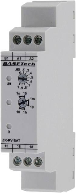 Tidsrelæ Basetech ZR-RV-BAT Monofunktionel 0.05 s - 10 h 1 x skiftekontakt 1 stk