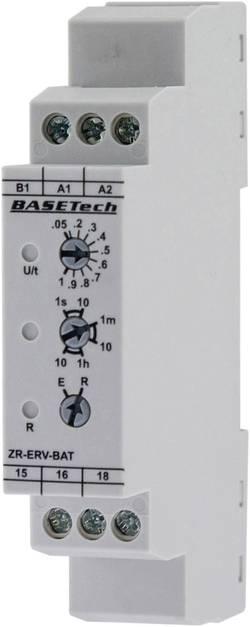Tidsrelæ Basetech ZR-ERV-BAT Multifunktionel 0.05 s - 10 h 1 x skiftekontakt 1 stk