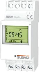 Timer til DINskinne Suevia DigiPro 1 x skiftekontakt 16 A 250 V/AC Dagsprogram, Ugeprogram, Ferieprogram, Impulsprogram