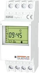 Timer til DINskinne Suevia DigiPro 2 2 x omskifter 16 A 250 V/AC Dagsprogram, Ugeprogram, Ferieprogram, Impulsprogram