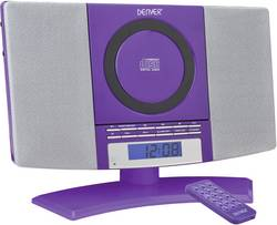 Stereoanlæg Denver MC-5220 AUX, CD, FM, Vægmontering Purple