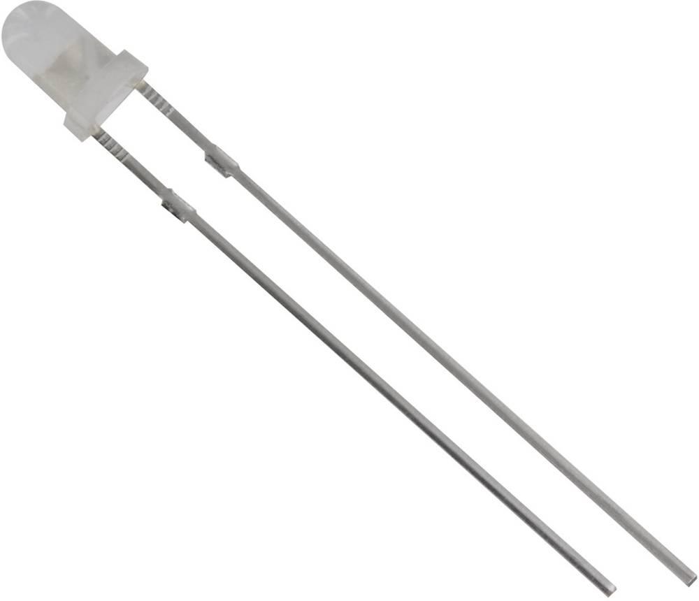 Ožičena LED dioda, bele barve, okrogla 3 mm 700 mcd 60 ° 20 mA 3.1 V TRU Components 1573704