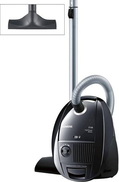 Siemens VSZ3B212 Bagged vacuum cleaner EEC: B (A – G) 700 W Black
