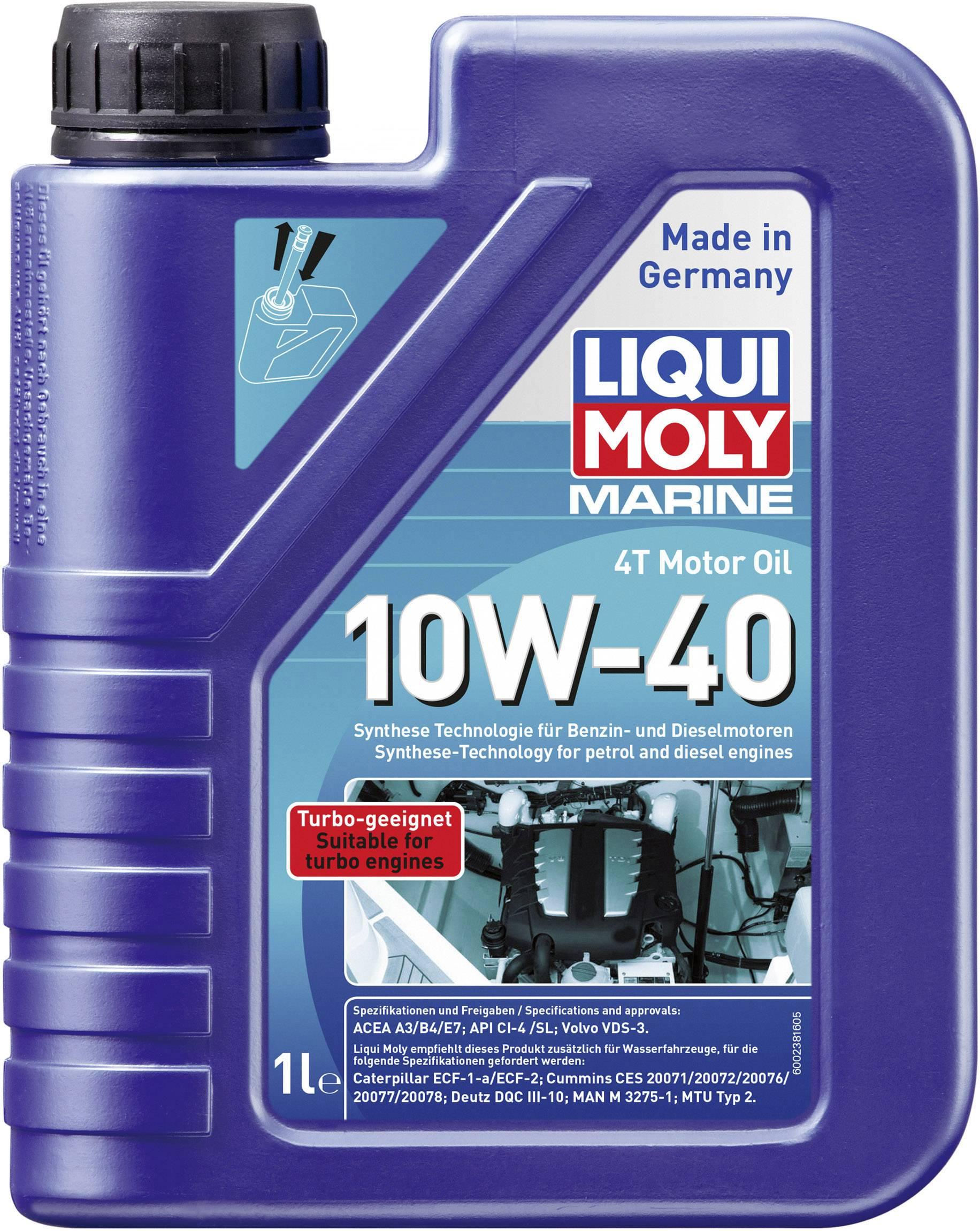 Liqui Moly Marine 4T 10W-40 25012 Engine oil 1 l | Conrad com