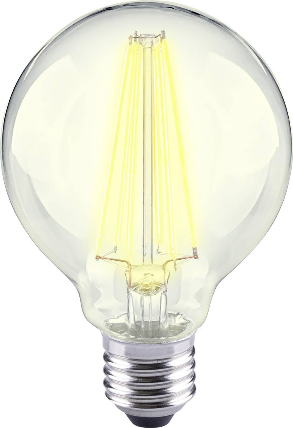 LED žarnica E27 okrogla oblika 12 W = 98 W topla bela (premer x D) 80 mm x 115 mm EEK: A++ Sygonix filament 1 kos
