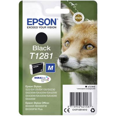 Image of EPSON Fox T1281 Black Ink Cartridge