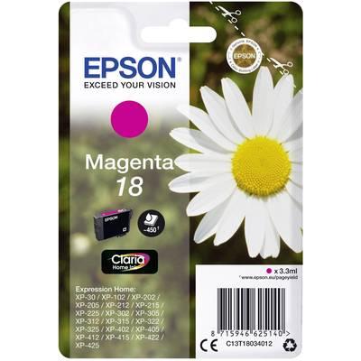 Image of Epson Ink T1803, 18 Original Magenta C13T18034012