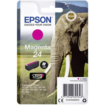 Image of Epson Ink T2423, 24 Original Magenta C13T24234012