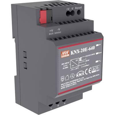 Mean Well KNX-20E-640 Rail mounted PSU (DIN) 30 V DC 640 mA 19.2 W 1 x