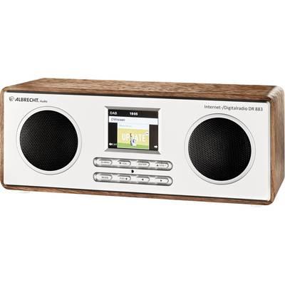 Albrecht DR 883 Internet desk radio DAB+, FM Internet radio, Wi-Fi, Bluetooth, DLNA DLNA-compatible Wood