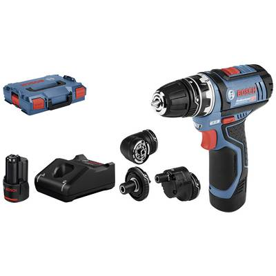Bosch Professional GSR 12V-15 FlexiClick Cordless drill 12 V 2 Ah Li-ion incl. spare battery, incl. accessories, incl. case