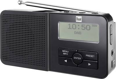 Image of Dual DAB 5 DAB+ Pocket radio DAB+, FM Battery charger, rechargeable Black