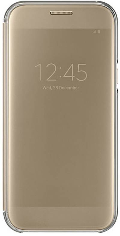 Image of Samsung Clear View Cover EF-ZA520 Flip cover Compatible with (mobile phones): Samsung Galaxy A5 (2017) Gold