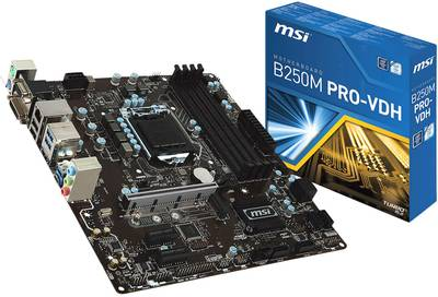 Compare prices for MSI 911-7A70-003 PRO VDH Kaby Lake Intel B250 DDR4 Micro ATX Motherboard - Black