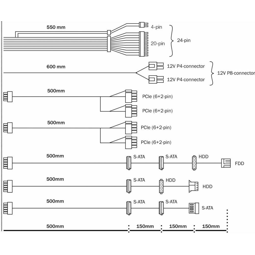 Bequiet Pure Power 10 Cm Pc Supply Unit 700 W Atx Eps 80 Plus Psu Wiring Diagram