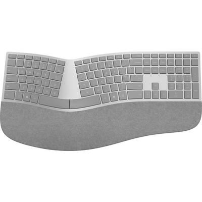 Image of Microsoft Surface Ergonomic Bluetooth® Keyboard German, QWERTZ, Windows® Grey Ergonomic, Gel wrist support mat