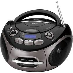 FM CD-radio AEG SR 4366 CD/MP3/USB CD, Kassette, FM, USB, AUX Sort, Titan