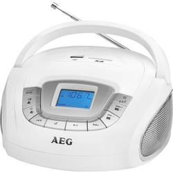 FM Bærbar radio AEG SR 4373 SD, USB, FM, AUX Hvid
