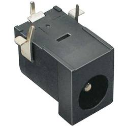 Lavspændingsstik Tilslutning, indbygning vandret 6.3 mm 2.5 mm BKL Electronic 1 stk