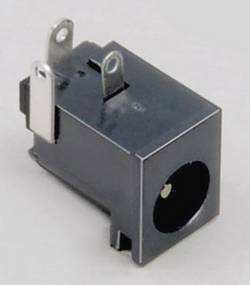 Lavspændingsstik Tilslutning, indbygning vandret 5.85 mm 2.5 mm BKL Electronic 1 stk
