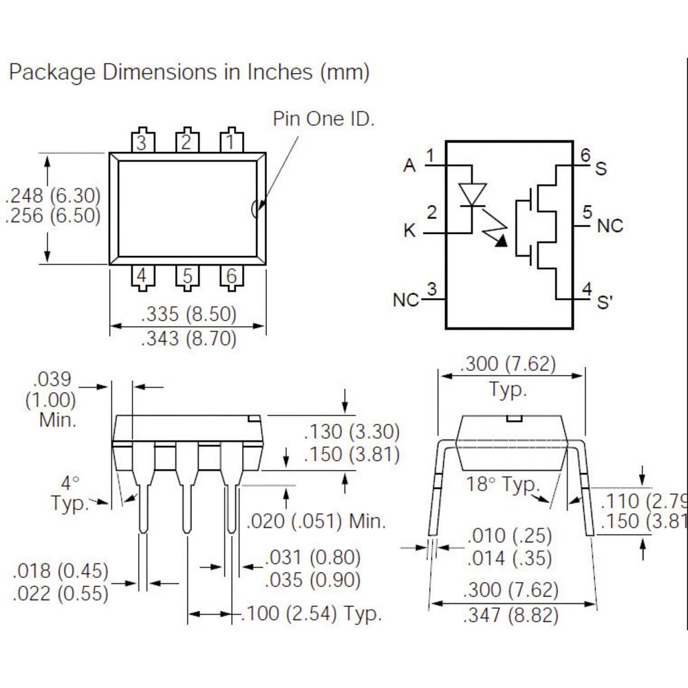 Vishay Lh1540at High Voltage Solid State Relay From Ssr Wiring Diagram Ac To Dc