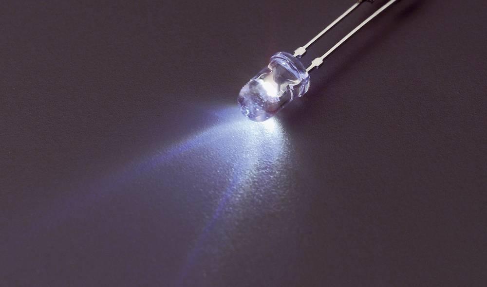 Ožičena LED dioda, bela, okrogla 3 mm 15000 mcd 20 ° 20 mA 3.2 V Nichia NSPW300DS
