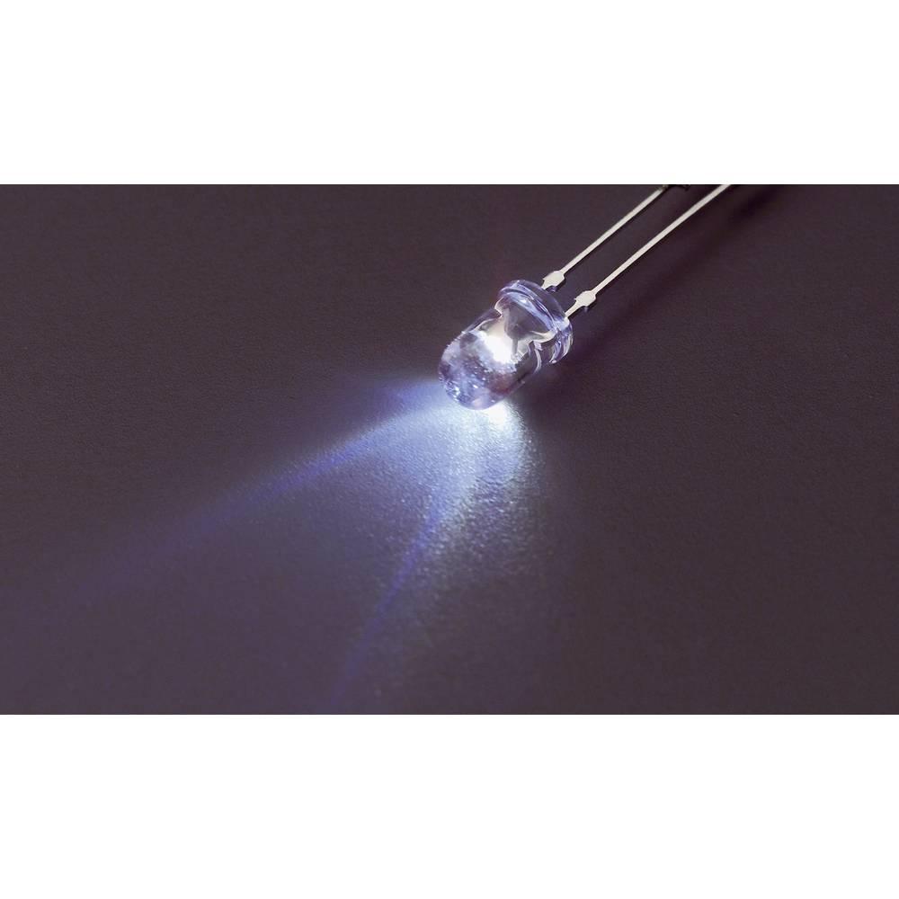 Ožičena LED dioda, bela, okrogla 5 mm 7100 mcd 45 ° 20 mA 3.2 V Nichia NSPW510DS