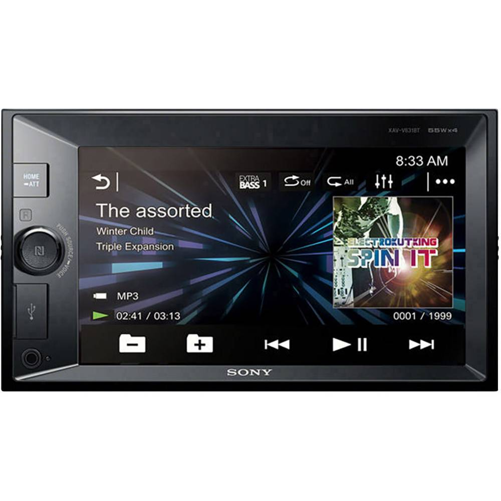 Dobbelt-DIN Moniceiver Sony XAVV631BT Håndfrit Bluetooth®-system, Tilslutning til bagkamera