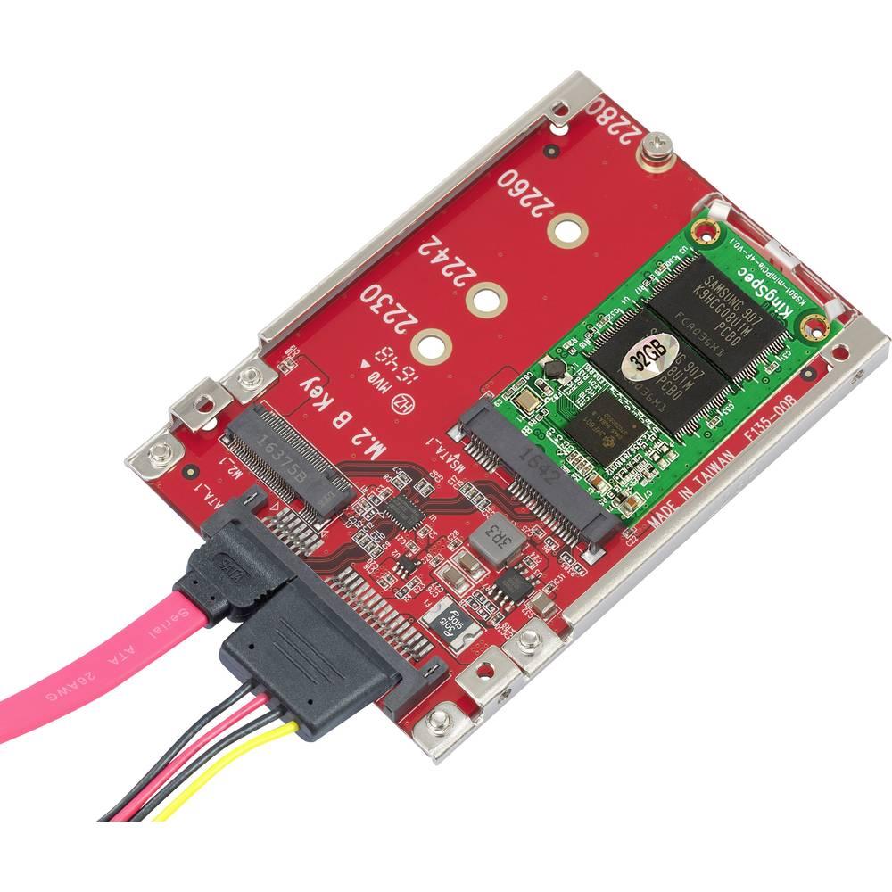 Gbic 1x Msata Socket M2 Ngff Sata Plug 22 Pin From Conrad Ssd To Adapter Card Converter