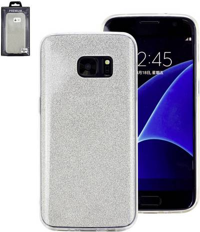 Image of Perlecom Back cover Compatible with (mobile phones): Samsung Galaxy S6 Edge Silver