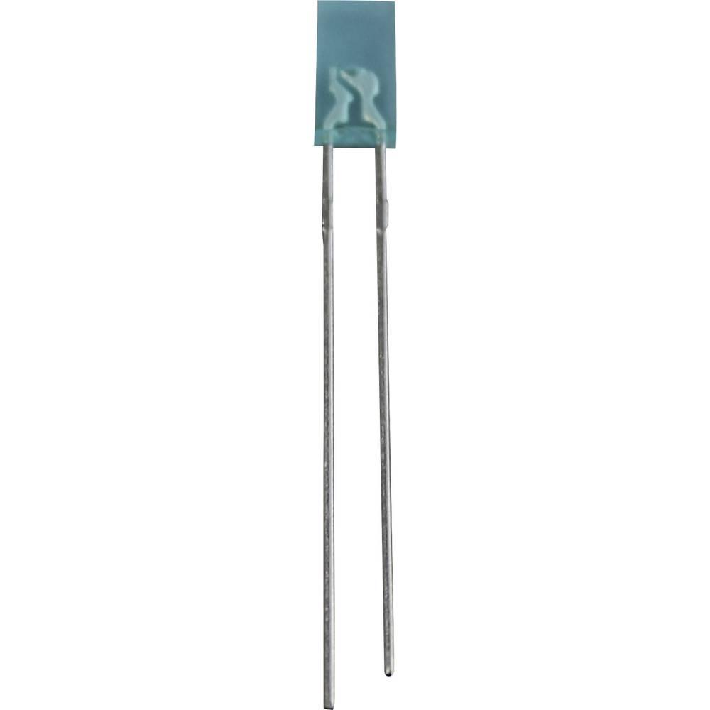Ožičena LED dioda, bela, pravokotna 2 x 4 mm 60 mcd 50 ° 20 mA 3.5 V LR 1605