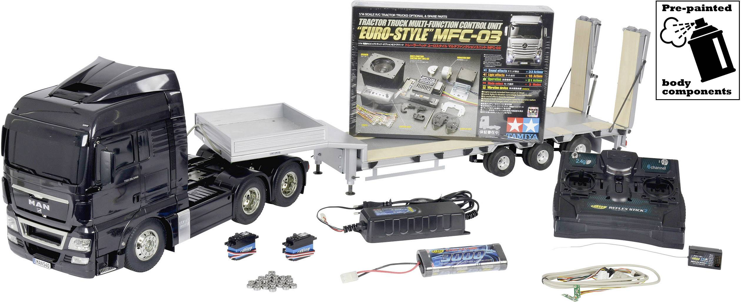 Tamiya 56346 Man Tgx 26 540 1 14 Electric Rc Model Truck Deluxe Saver Set Pre Painted Conrad Com