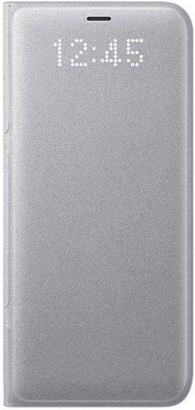 Image of Samsung LED View Flip cover Compatible with (mobile phones): Samsung Galaxy S8 Silver