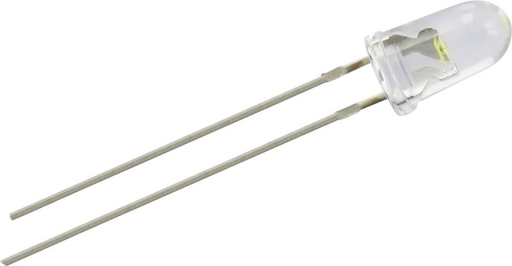 Ožičana LED dioda, bijela, okrugla 5 mm 18000 mcd 22 ° 20 mA 3.6 V LED-5-18000W