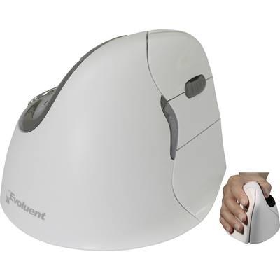 Image of Evoluent VerticalMouse4 VM4RB Mac Bluetooth® Ergonomic mouse Optical Ergonomic White, Silver