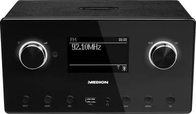 Image of Internet Table top radio Medion P85080 (MD87523) AUX, Bluetooth, DAB+, Internet radio, FM, WiFi Multi-room, Spotify Blac