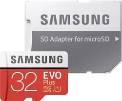 MicroSDHC-kort Samsung EVO Plus Class 10, UHS-I 32 GB inkl. SD-adapter