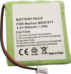 Trådlös telefon batteri Beltrona TELSINUS201 NiMH 2.4 V 500 mAh