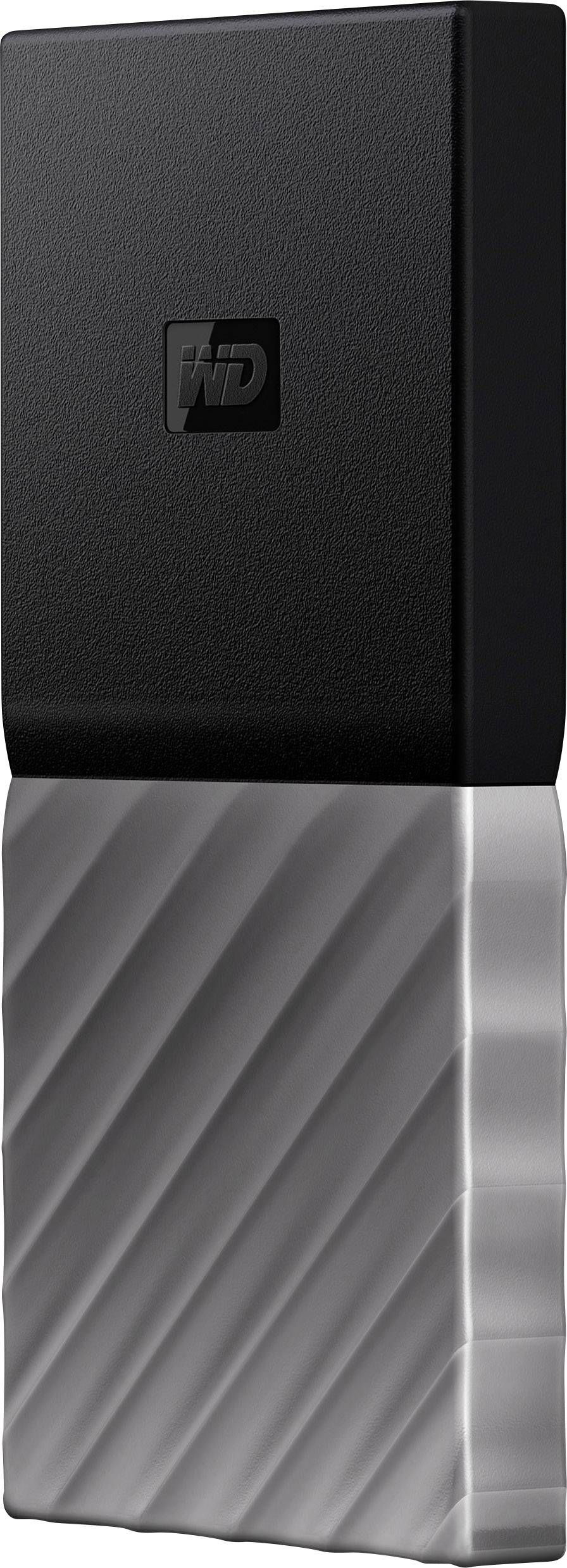 Black-Gray WD 1TB My Passport SSD Portable Storage USB 3.1 WDBK3E0010PSL-WESN