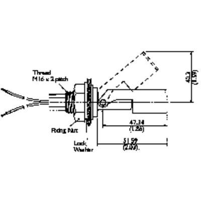 TE Connectivity Sensor LS803-51 Float switch 250 V AC, 100