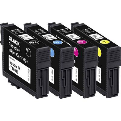 Image of Basetech Ink replaced Epson T1801, T1802, T1803, T1804, 18 Compatible Set Black, Cyan, Magenta, Yellow BTE158 1622,4850-126