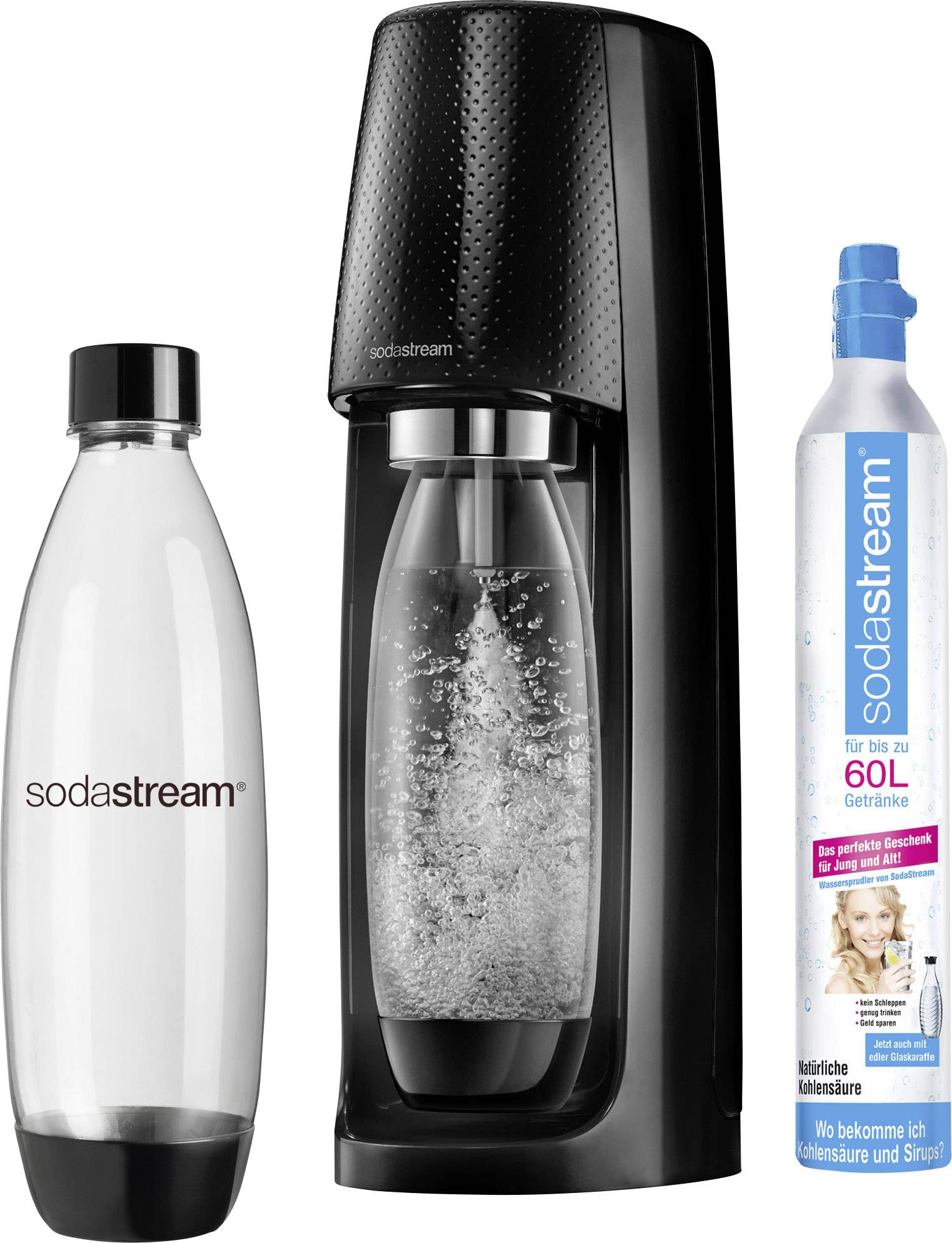 Sodastream Soda Maker Crystal 2 0 Promopack Titanium And 1x Co2